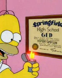 The Simpsons: Homer Goes to College