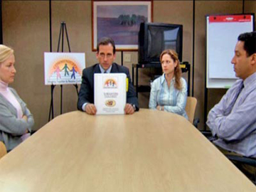 The Office, Season 2 Episode 21: Conflict Resolution Trivia Quiz