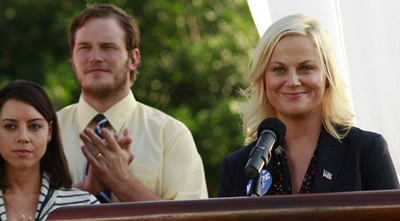 Parks and Recreation, S04E01: I'm Leslie Knope Trivia Quiz