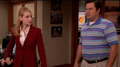 Parks and Recreation, S04E02: Ron and Tammys Trivia Quiz