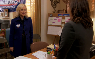 Parks and Recreation, S04E11: The Comeback Kid Trivia Quiz